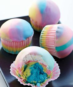Watch this video for Tie-Dye Cupcakes