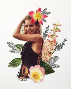 sienna miller flower collage by katy edling - No. 60/100