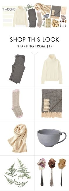 """Holiday Style: Cozy Chic"" by ellare88 ❤ liked on Polyvore featuring Uniqlo, Johnstons of Elgin, Jaipur, Juliska and Jení"