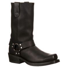Men's Durango Harness Boots - Oiled Black