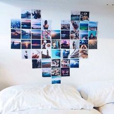 Photo Heart Wall Collage Size A Picture Template