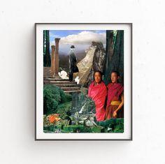 Tintín print, Printable art, Digital print, Instant download, Red and Green print, 3 JPG