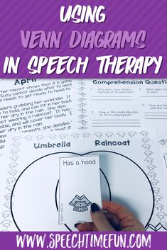 Trying to figure out different ways that you can use Venn diagrams in speech therapy? They are an excellent tool to use and can help you target a variety of skills with your speech therapy students! This blog post shares more ideas for SLPs for using Venn diagrams in therapy, and talks about the benefits of using tools like this, so click through to read more! #slp #speechtherapy #comparecontrast #schoolspeechtherapy #speech