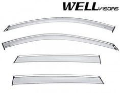 WellVisors Window Visors 01-05 For Honda Civic Sedan Sun Visors Deflectors