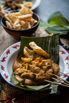 Sate padang (West Sumatra Satay). Usually made with beef and served with savory spicy thick sauce