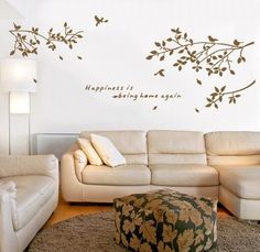 Tree Wall Decals Bird Tree Wall Art Sticker Removable Vinyl Decal Mural Quote Home Decor DIY from Other. ............ Get Wall Decals at Amazon from Wall ...