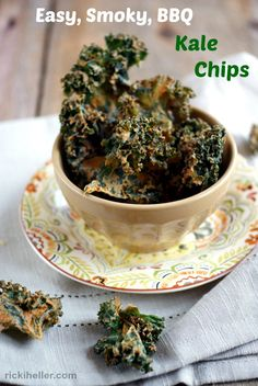 Easy Smoky BBQ Kale Chips (That Can Be Made in Your Oven!) dairy-free, vegan