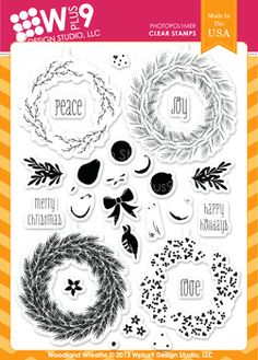 Woodland Wreaths from Wplus9 Design Studio