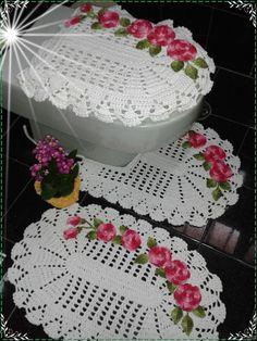tapete de croche para banheiro facil decorado