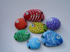 Hand Painted Rocks - Bing Images...lots of good rock painting ideas and information on painting and sealing your rock!