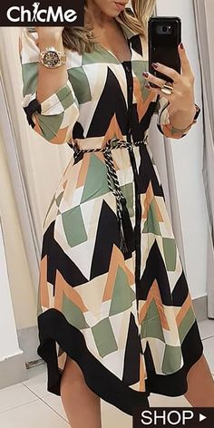Vestido casual assimétrico colorblocked geo print (s/m/l/xl) Trend Fashion, Womens Fashion, Style Fashion, Fashion Quiz, City Fashion, Cheap Fashion, Fashion Bloggers, Fashion Fashion, Winter Fashion