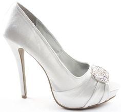 74ce0e6d4 Ladies Platform High Heel Stiletto Peeptoe Diamante Flower Shoes Sandals  Size with shoeFashionista Boutique Bag