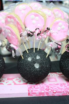 Bowling Ball Cookies/cake pops