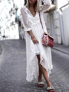 9ac4ff6366d Sku CY-!19276 Material Lace Style Long Sleeves Feature Solid Occasion Going  out