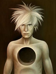 - Andy Wharol by Ben Heine - Cool Works, Andy Warhol Pop Art, Ben Heine, Pop Art Movement, Portraits, Portrait Art, Arte Pop, Illustrations, Community Art