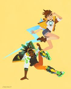 Overwatch - Tracer and Lucio in Motion