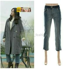 """194 lượt thích, 3 bình luận - @kdrama_fashion trên Instagram: """"Soo Ae wore Zooc Denim Pants ₩155,400 in Sweet Stranger and Me Drama Episode 7&8. Photo credit to…"""" Sweet Stranger And Me, Denim Pants, Photo Credit, Kdrama, Trends, Coat, Amp, How To Wear, Instagram"""