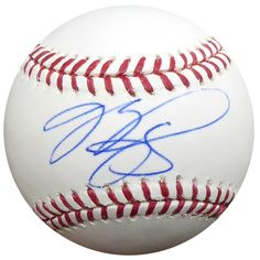 Mike Piazza Autographed Official MLB Baseball Los Angeles Dodgers JSA #G72519
