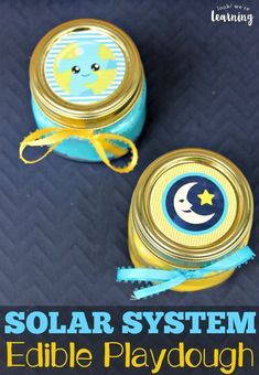 This fun solar system-themed edible playdough is a perfect sensory activity for kids! Make a batch or two for some outer space sensory fun! Fun Activities For Preschoolers, Summer Activities For Kids, Crafts For Kids, Easy Crafts, Sensory Bins, Sensory Activities, Sensory Play, Outer Space Activities, Diy Solar System