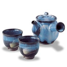 Hagi-Yaki Glazed Earthenware Tea Pot and Cup Set $197.25