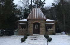 This is one of the follies we built with a light dusting of powdered sugar, I mean snow! Snow is a rare commodity in Texas, and casts such a magical glow on the folly.  Call us at (903) 597-7421 Online at www.breedlovelandscape.com  #folley #snow #snowintexas  #breedlovelandscape #landscapearchitecture #landscape #architecture #tylertx #tylertexas #tyler #texas