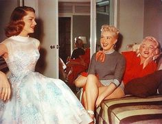 Lauren Bacall, Lana Turner, and Marilyn Monroe. Love this pic!