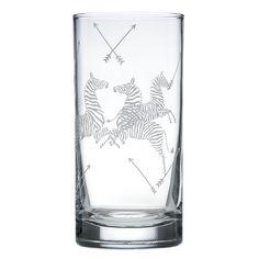 Scalamandre Zebra Highball Glass, Set of 2 | Bloomingdale's
