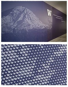 University of Washington Alumni Commons Wall Graphics Environmental Graphic Design, Environmental Graphics, Wayfinding Signs, Japanese Poster Design, Sports Wall, Murals Street Art, Signage Design, Wall Design, Design Design