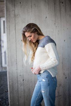b481b40d Parkenstrikk, lola genser, PDF strikkeoppskrift Knitting Kits, Sweater  Knitting Patterns, Womens Knit