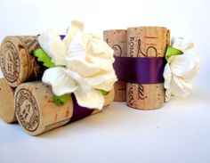 Wine Cork Place Card Holders, Custom Colors & Styles for Weddings, Bridal Showers