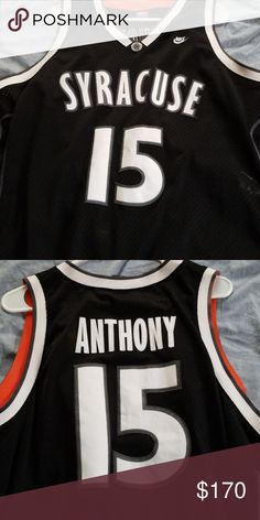 Authentic Carmelo Anthony college Jersey Nike XXL limited edition Carmelo  Anthony Syracuse Jersey Nike Shirts Tank 7a728da02