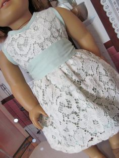 Mint Green with  Lace Overlay Spring Dress by fashioned4you, $18.00. must try a lace overlay!