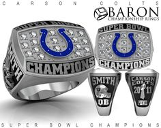 2011 Super Bowl Champions Carson Colts - Baron Championship Rings
