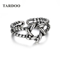 Aliexpress.com : Buy Tardoo Rings for Women 925 Sterling Silver Vintage Hollow Hexagonal Star Cuff Open Twist Ring Adjustable Jewelry Dropshipping from Reliable ring for suppliers on Shop2885284 Store