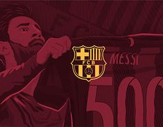 """Check out new work on my @Behance portfolio: """"Lionel Messi 500 goals with FC Barcelona Illustration,"""" http://be.net/gallery/61255115/Lionel-Messi-500-goals-with-FC-Barcelona-Illustration"""