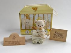 1985 PRECIOUS MOMENTS Birthday Train For BABY by ThoughtfulVintage #PreciousMoments #BirthdayTrain #ThoughtfulVintage