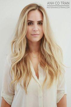 LA: TRENDY, LONG, AND BEAUTIFUL AT RAMIREZ|TRAN SALON IN BEVERLY HILLS. Cut/Style: Anh Co Tran. #beautifulhair #blonde #layers #longhair #besthairinla #besthairinnyc #ramireztran #salon #model #anhcotran