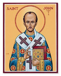"""John Chrysostom, the """"golden mouthed"""".  He was known for his eloquent sermons, and for his opposition to tyranny and the abuse of power."""