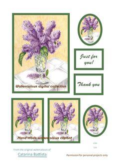 Lilas Nature morte. Carte numérique. Papier imprimable. Papier d'artisanat, Carte de voeux, Carte postale, Ephemera, Junk Journal, Collage, Scrapbooking
