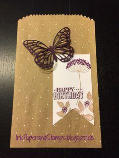 Geschenktüten Schnelle Überraschung Polka Dot von Stampin' Up!, Stempelset Summer Silhouettes, Thinlits Formen Schmetterlinge