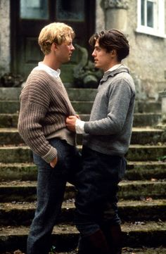 """"""" Hugh Grant and James Wilby as Clive Durham and Maurice Hall in Maurice [x] """" Gay Aesthetic, Couple Aesthetic, Aesthetic Vintage, Arte Pulp Fiction, James Wilby, Old Money, Cute Gay Couples, The Secret History, Foto Art"""