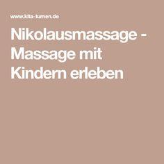 Nikolausmassage - Massage mit Kindern erleben