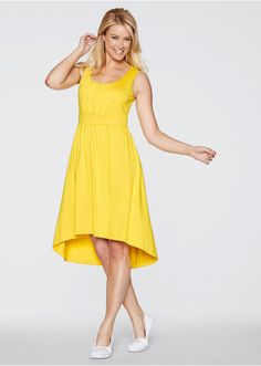 Sukienka z dłuższym tyłem W dekolcie i • 99.99 zł • Bon prix