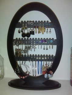 Oval Earring Jewelry Holder Rack with base ALL by LangtonStudio