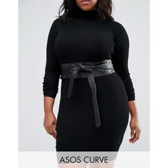 ASOS CURVE Leather Obi Waist Belt ($25) ❤ liked on Polyvore featuring accessories, belts, black, plus size, genuine leather belt, real leather belts, adjustable leather belt, 100 leather belt and leather waist belt