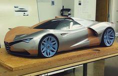 Clay modeling at CCS: Alfa Romeo by @tsadchikov #cardesign #car #design #clay #claymodel #alfaromeo