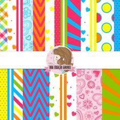 Loja: http://www.elo7.com.br/papel-digital-colorido-i/dp/4FDE6E | #scrapbooking #colors #printable #papel