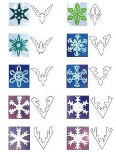 handmade snowflakes designs (How To Make Christmas Garland) Paper Snowflake Designs, Snowflake Template, Snowflake Garland, Paper Snowflakes, Diy Garland, Christmas Snowflakes, Christmas Crafts, Garland Ideas, Christmas Garlands