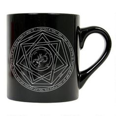 This Supernatural mug features the heptagram, a protective symbol.