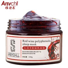 Red Wine Polyphenols Face Mask Whitening Moisturizing Anti-Aging Acne Treatment Brighting Facial Masks Beauty Skin Care